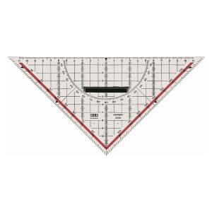 Geodreieck M+R 23230100, Hypotenusenlänge: 220mm, mit Griff, transparent