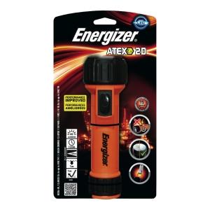 Taschenlampe Energizer Atex 2D, mit Gürtelclip, 60 Lumen, orange/schwarz