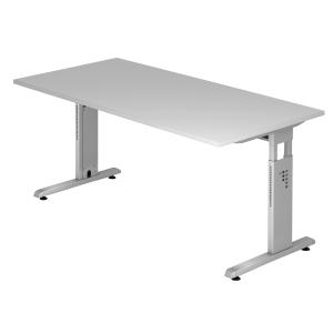 Schreibtisch OS16-5, verstellbar, Größe: 160 x 80cm, grau