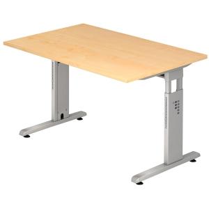 Schreibtisch OS19-3, verstellbar, Größe: 180 x 80cm, ahorn
