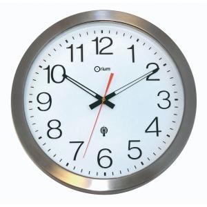 Funkwanduhr Orium 2113850961, analog, Durchmesser: 35,5cm, silber