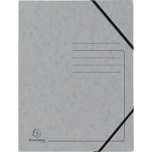 Eckspanner Falken 11286697, A4, aus Karton, Fassungsvermögen: 200 Bl, grau, 5 St