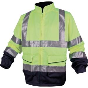 Warnschutzjacke Deltaplus Panostyle, Größe XL, 2 Taschen, gelb/blau