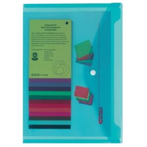 Dokumententasche Herlitz, A4, PP, Fassungsvermögen: 200 Blatt, blau/tran. 6St