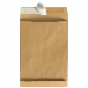 Faltentaschen Bong 8350250, C4, 40mm-Falte, ohne Fenster, HK, braun, 100 Stück