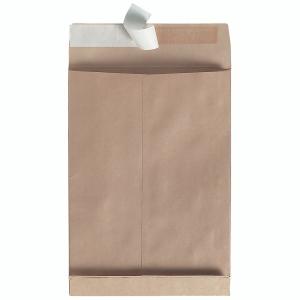 Faltentaschen Bong 8350251, B4, 40mm-Falte, ohne Fenster, HK, braun, 100 Stück