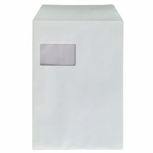 Versandtaschen Bong 8350252, C4, mit Fenster, Haftklebung, 100g, weiß, 250 Stück
