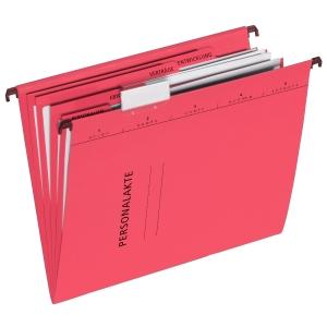 Hängemappe Pagna 44105, Personal, A4, aus Karton, 5 Fächer, rot