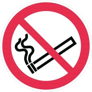 Verbotszeichen Gloria Rauchen verboten, Durchmesser: 20cm, rot/weiß