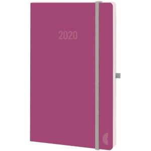 Buchkalender 2019 Chronoplan 50999, Mini, 1 Woche / 1 Seite, lachs