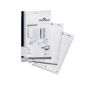 Einsteckschilder Durable 1457, 60x90mm, weiß, 180 Stück