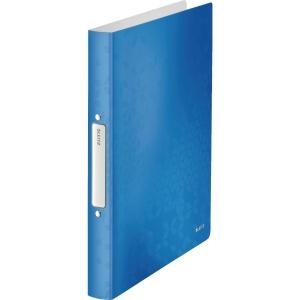 Ringbuch Leitz 4257 WOW, A4, 2-Ringe, Ringdurchmesser: 25mm, blau metallic