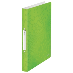 Ringbuch Leitz 4257 WOW, A4, 2-Ringe, Ringdurchmesser: 25mm, grün metallic