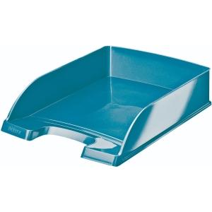Briefkorb Leitz 5226 WOW, stapelbar, Maße: 255 x 360 x 70 mm, eisblau metallic