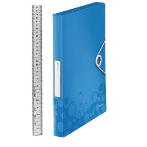 Ablagebox Leitz 4629 WOW, aus PP, Rückenbreite: 30mm, A4, blau metallic