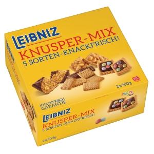 Gebäck Bahlsen 31700 Leibniz Knusper Mix, 2 Serviereinheiten mit je 500g