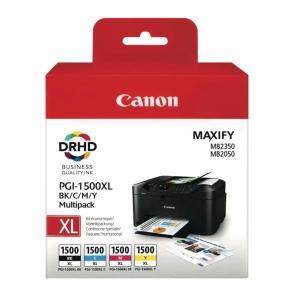 Tintenpatrone Canon 9182B004 - PGI-1500XL, Inhalt: 4x12ml, Multipack 4, c/g/m/sw
