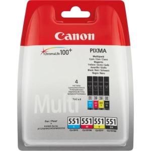 Tintenpatrone Canon 6509B009 - CL-551, Reichweite: swz: 125/ f.: 320 S., 4farbig