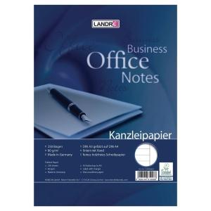 Kanzleipapier Landre 432025025, holzfrei, A3/A4, liniert, 250 Blatt