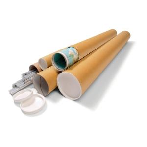 Versandrohr Ratioform VR6, Länge: 860mm, Durchmesser: 80mm, braun