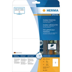 Outdoor-Folienetiketten Herma 9535, 210 x 148mm (LxB), weiß, 10 Stück