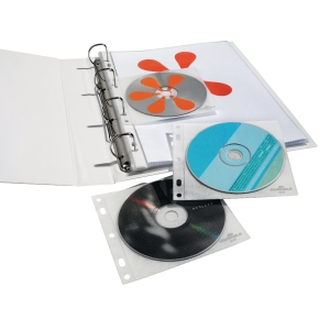 BX10 DURABLE 523919 CD/DVD COVER FILE TR