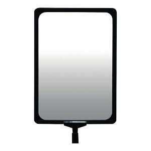 Schildhalter Viso RSA 4, drehbar, Format: A4, für Absperrpfosten, schwarz