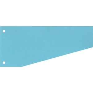 Trennstreifen 10,5 / 6 x 24cm, Trapez, blau, 100 Stück