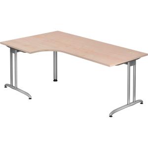Schreibtisch Schreibtisch mit Ecke, Größe: 200 x 120, ahorn