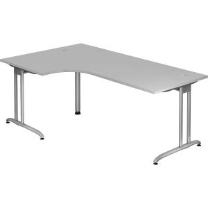 Schreibtisch mit Ecke, Größe: 200 x 120, grau