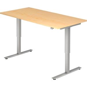 Schreibtisch VXMST16/3/S, höhenverstellbar, Größe: 160 x 80, ahorn