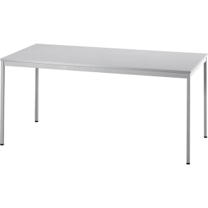 Konferenztisch Hammerbacher VVS16/5, Größe: 160 x 80 cm (L x B), grau