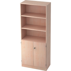Regal mit Holztüren, Maße: 200,4 x 80 x 42 cm, ahorn
