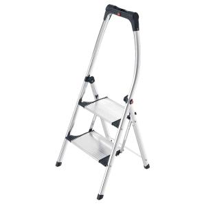 Aluklappleiter Hailo 4302-301, 2 Stufen, Tragkraft: bis 150 kg