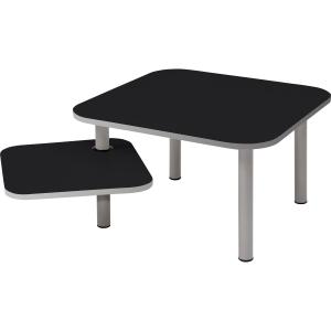 Beistelltisch TBZOE1 N, Größe: 58 x 58 cm / 37 x 37 cm, schwarz