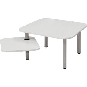 Beistelltisch TBZOE BC, Größe: 58 x 58 cm / 37 x 37 cm, weiß