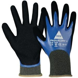 Mechanikschutzhandschuhe Hase Padua Dry, Größe 10, swz/bl, 1Paar