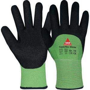 Kälteschutzhandschuhe Hase Superflex Winter, Größe 9, grün/schwarz, 1 Paar