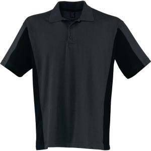 Poloshirt Kübler SHIRTS 5019, Größe: M, anthrazit/schwarz