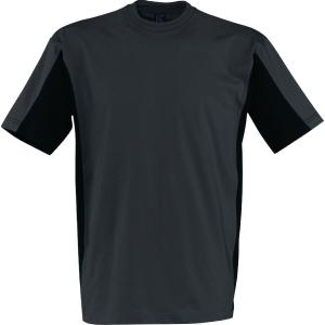 T-Shirt Kübler SHIRTS 5020, Größe: L, anthrazit/schwarz
