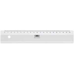 Lineal M+R 710200000, aus Plastik, Länge: 20cm