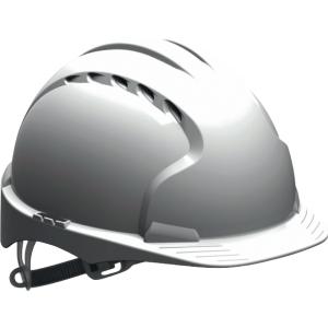 Schutzhelm JSP EVO3 AJF160, aus HDPE, Gleitverschluss belüftet, weiß