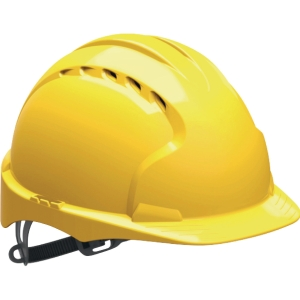 Schutzhelm JSP EVO3 AJF160, aus HDPE, Gleitverschluss belüftet, gelb