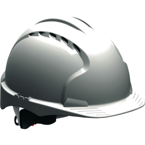 Schutzhelm JSP EVO3 AJF170, aus HDPE, Drehverschluss, belüftet, weiß