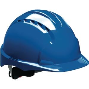 Schutzhelm JSP EVO3 AJF170, aus HDPE, Drehverschluss, belüftet, blau