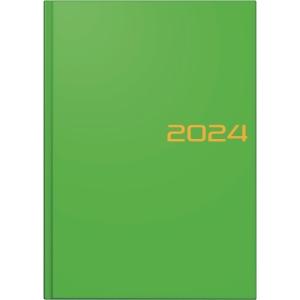 Buchkalender 2019 Brunnen 79561, 1 Tage / 1 Seite, A5, grün