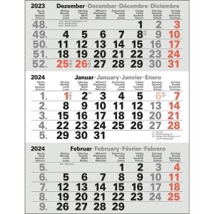 Tischkalender 2019 Bühner M3TKM, Ersatz, 3 Monate / 1 Seite, 11 x 22cm