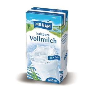 H-Milch Milram, 3,5% Fettgehalt, 20x0,5l