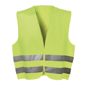Warnschutzweste Feldtmann 22685, Klettverschluss, Einheitsgröße, gelb