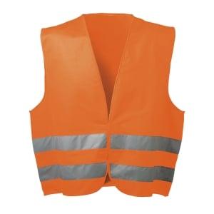 Warnschutzweste Feldtmann 22686, Klettverschluss, Einheitsgröße, orange